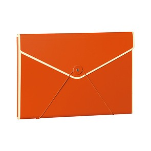 Envelope Folder with elastic band closure, orange