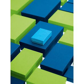 Set of 10 Rectangular Boxes laminated with Efalin