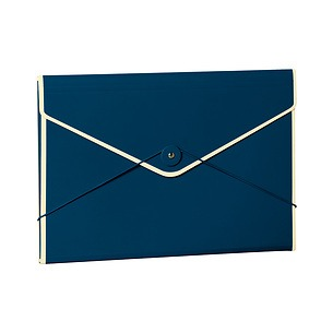 Envelope Folder with elastic band closure, marine