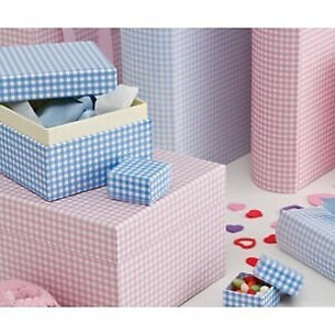 Set of 5 Gift Boxes Vichy