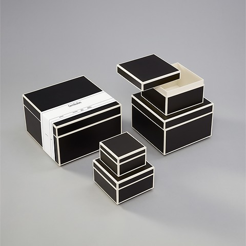 Set of 5 Gift Boxes, black