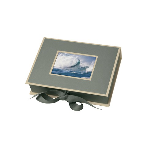 Small Photobox with cut out window, grey