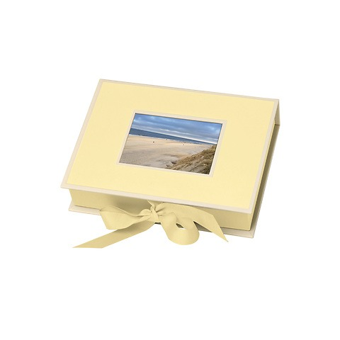 Small Photobox with cut out window, chamois