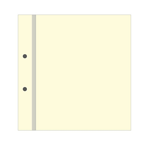 Photo Mounting Board for Scrapbooking Album, cream