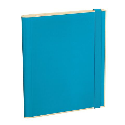 Clipfolder with 3 pockets, metal clip and elastic band (A4) and letter size, turquoise