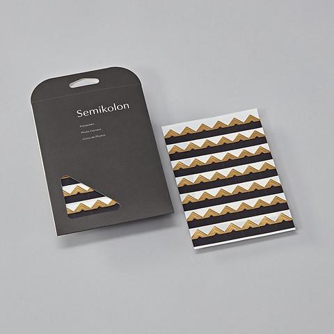 Photo Corners, 252 pieces, gold