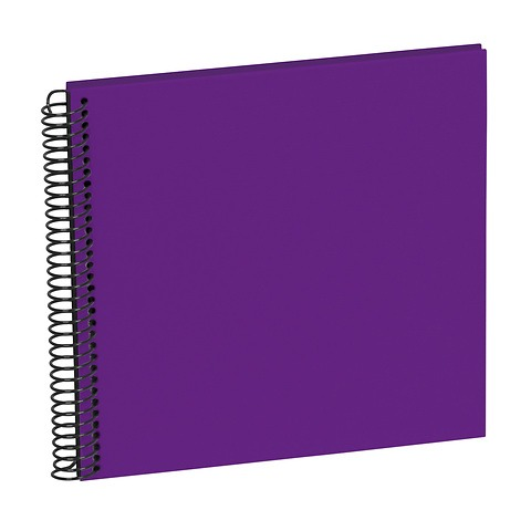 Sprial Piccolino, 20 black pages, efalin cover, plum